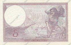 5 Francs VIOLET modifié FRANCE  1939 F.04.08 SUP+