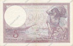 5 Francs VIOLET modifié FRANCE  1939 F.04.10 SUP