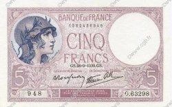 5 Francs VIOLET modifié FRANCE  1939 F.04.10 pr.SPL