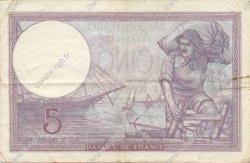 5 Francs VIOLET modifié FRANCE  1939 F.04.14 TTB+