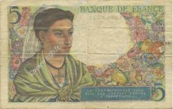 5 Francs BERGER FRANCE  1943 F.05.03 TTB