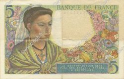 5 Francs BERGER FRANCE  1943 F.05.03 SUP