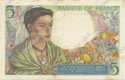 5 Francs BERGER FRANCE  1943 F.05.04 SUP+