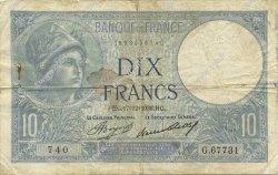 10 Francs MINERVE FRANCE  1936 F.06.17 pr.TB