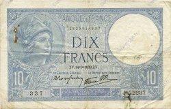 10 Francs MINERVE modifié FRANCE  1939 F.07.07 TB