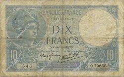 10 Francs MINERVE modifié FRANCE  1940 F.07.20 B