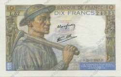 10 Francs MINEUR  FRANCE  1943 F.08.08 SUP