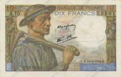 10 Francs MINEUR FRANCE  1944 F.08.10 TTB+