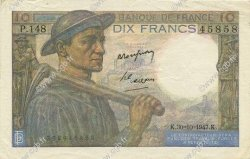 10 Francs MINEUR FRANCE  1947 F.08.18 SUP