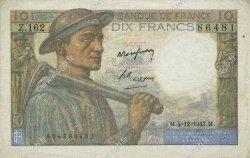 10 Francs MINEUR FRANCE  1947 F.08.19 TTB+