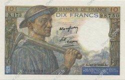 10 Francs MINEUR FRANCE  1949 F.08.20 SPL