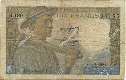 10 Francs MINEUR FRANCE  1949 F.08.20 B+