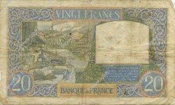 20 Francs SCIENCE ET TRAVAIL FRANCE  1939 F.12.01 B+