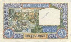 20 Francs SCIENCE ET TRAVAIL FRANCE  1940 F.12.09 SUP+