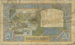 20 Francs SCIENCE ET TRAVAIL FRANCE  1940 F.12.10 B