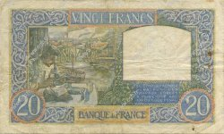 20 Francs TRAVAIL ET SCIENCE FRANCE  1940 F.12.11 TB+