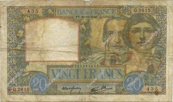 20 Francs SCIENCE ET TRAVAIL FRANCE  1940 F.12.11 TB