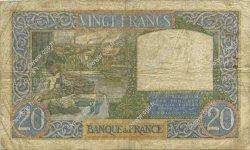 20 Francs SCIENCE ET TRAVAIL FRANCE  1941 F.12.13 TB