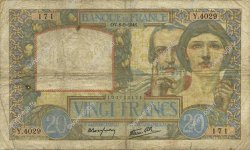 20 Francs SCIENCE ET TRAVAIL FRANCE  1941 F.12.14 B+