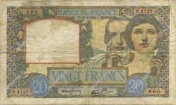 20 Francs SCIENCE ET TRAVAIL FRANCE  1941 F.12.14 TB