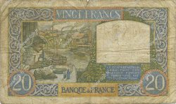 20 Francs SCIENCE ET TRAVAIL FRANCE  1941 F.12.15 B+