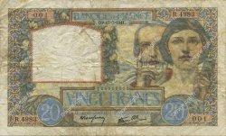 20 Francs SCIENCE ET TRAVAIL FRANCE  1941 F.12.16 B+