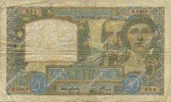 20 Francs SCIENCE ET TRAVAIL FRANCE  1941 F.12.17 TB