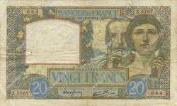 20 Francs SCIENCE ET TRAVAIL FRANCE  1941 F.12.18 TTB