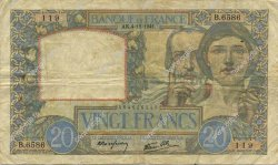 20 Francs SCIENCE ET TRAVAIL FRANCE  1941 F.12.20 TB