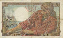 20 Francs PÊCHEUR FRANCE  1944 F.13.08 TTB+