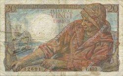 20 Francs PÊCHEUR FRANCE  1944 F.13.09 TB