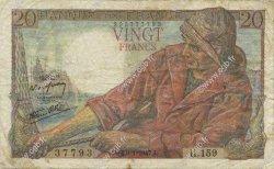 20 Francs PÊCHEUR FRANCE  1947 F.13.11 TB