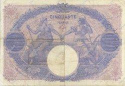 50 Francs BLEU ET ROSE FRANCE  1915 F.14.28 TB+