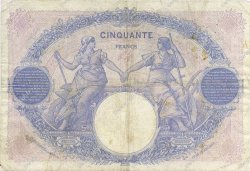 50 Francs BLEU ET ROSE FRANCE  1923 F.14.36 TB+