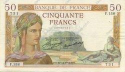 50 Francs CÉRÈS FRANCE  1934 F.17.02 pr.SUP