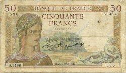 50 Francs CÉRÈS FRANCE  1935 F.17.08 B+
