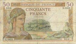 50 Francs CÉRÈS FRANCE  1935 F.17.14 B+