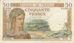 50 Francs CÉRÈS FRANCE  1935 F.17.14 TTB+