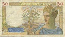 50 Francs CÉRÈS modifié FRANCE  1938 F.18.07 TB+