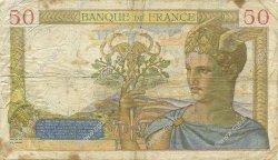 50 Francs CÉRÈS modifié FRANCE  1938 F.18.12 TB+