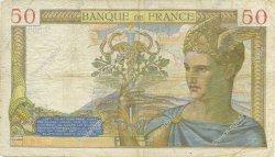 50 Francs CÉRÈS modifié FRANCE  1938 F.18.16 TB