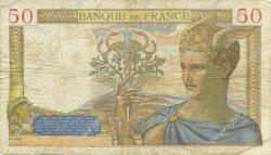 50 Francs CÉRÈS modifié FRANCE  1939 F.18.23 pr.TB