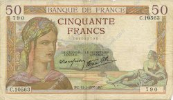 50 Francs CÉRÈS modifié FRANCE  1939 F.18.28 TB