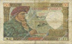 50 Francs JACQUES CŒUR FRANCE  1941 F.19.11 TB