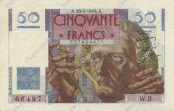 50 Francs LE VERRIER FRANCE  1946 F.20.02 SUP à SPL