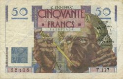 50 Francs LE VERRIER FRANCE  1949 F.20.11 TTB