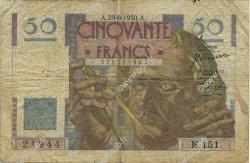 50 Francs LE VERRIER FRANCE  1950 F.20.15 B+