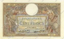 100 Francs LUC OLIVIER MERSON grands cartouches FRANCE  1929 F.24.08 SUP+ à SPL