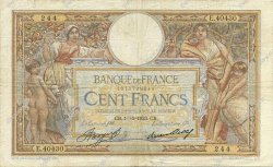 100 Francs LUC OLIVIER MERSON grands cartouches FRANCE  1933 F.24.12 TB