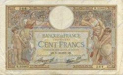 100 Francs LUC OLIVIER MERSON type modifié FRANCE  1937 F.25.03 TB à TTB
